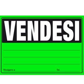 Cartello vendesi 24x33cm colori ass giallo verde arancio for Vendesi ufficio roma
